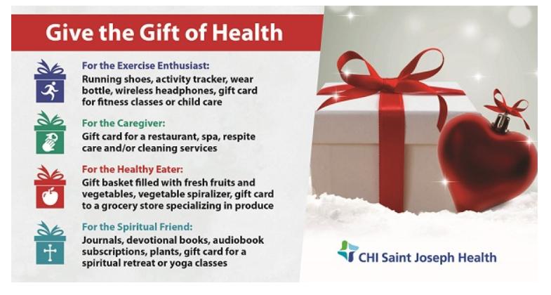 CHI Saint Joseph Health Encourages Healthier Gift-Giving This Holiday Season