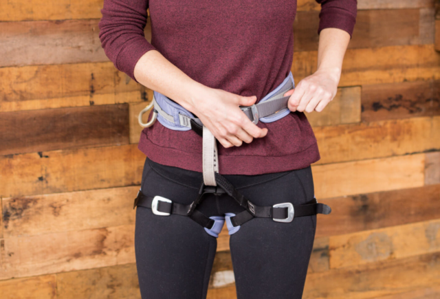 What is the best way to wear a climbing harness?