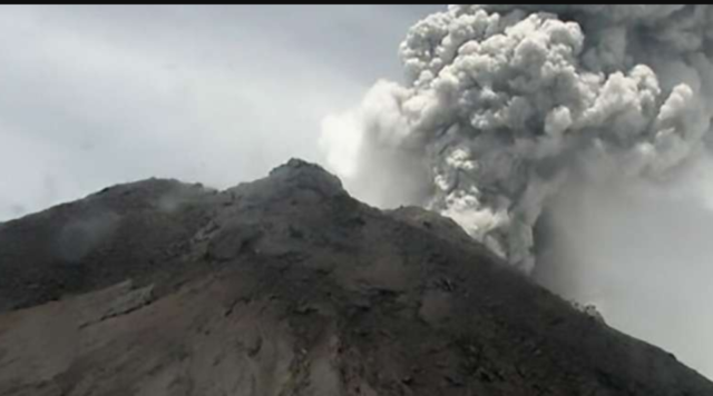Indonesian volcano Mount Merapi spews massive ash cloud