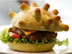 Vietnamese chef Hoang Tung makes 'coronavirus-shaped' burger to help dinners laugh through pandemic