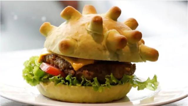 Vietnamese chef Hoang Tung makes 'coronavirus-shaped' burger to help dinners laugh through pandemic