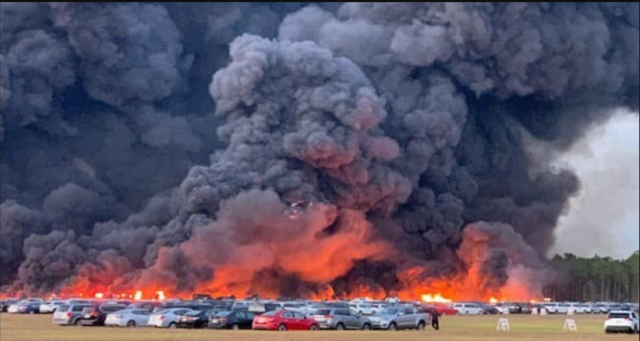 Florida Brush Fire Destroys More than 3, 500 Rental Cars Airport Near Fort Myers