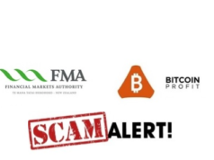 New Zealand's FMA Alerts The Public About 'Profit Bitcoin' Scam